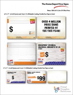 The Home Depot Price Signs